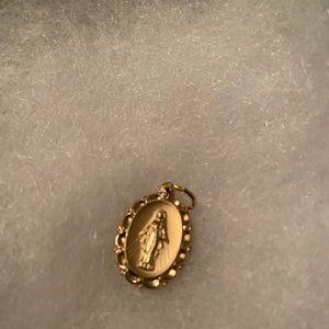 Mother Teresa Gold Pendant